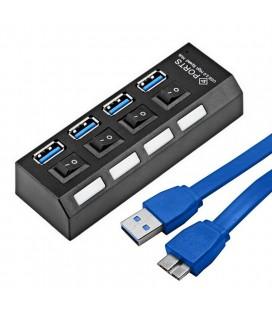 HUB USB 3.0 4 PORTS