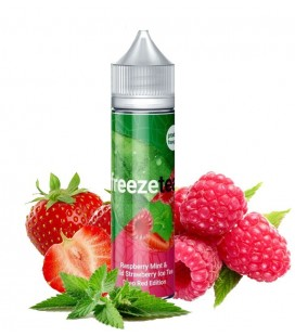 RASPBERRY MINT &WILD STRAWBERRY ICE TEA 50ML - Freeze Tea Deep Red Edition